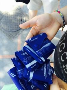Portacenere tascabili distribuiti da Marevivo