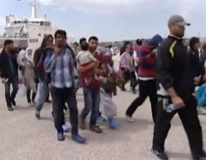 Sbarco di immigrati ad Augusta