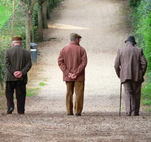 Anziani in un centro diurno