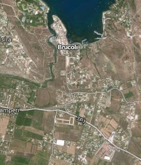 Brucoli e Piano Ippolito visti dal satellite