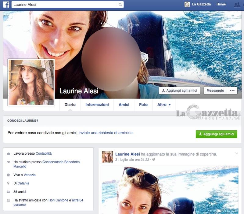 Il profilo falso su facebook con le foto rubate a Jessika Milardo