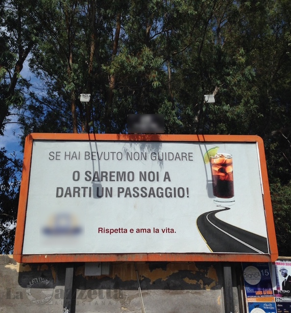 Cartellone pubblicitario onoranze funebri