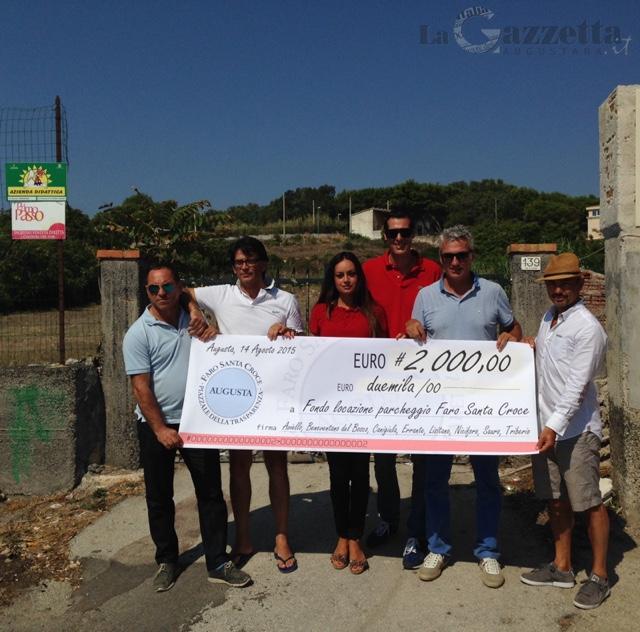 Assegno consiglieri comunali per parcheggio Faro Santa Croce