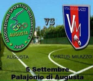 Amichevole estiva tra Augusta calcio a 5 e Virtus Milazzo