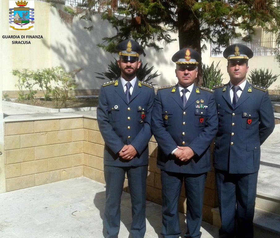 I vertici della Guardia di Finanza di Siracusa e della Compagnia di Augusta
