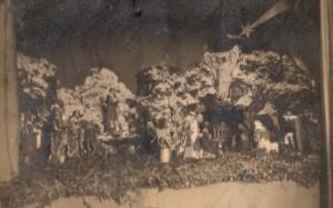 Presepe allestito nella batteria 363 di Campolato nel 1940 [Foto inedita]