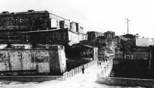 La zona vicino alla Porta Spagnola nei primi anni Venti dello scorso secolo