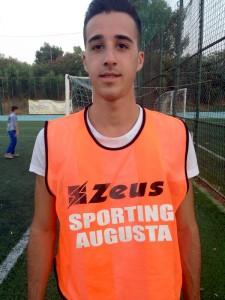 Salvo Di Grande, giovane attaccante dello Sporting Augusta