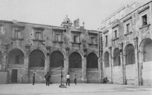 Convento di San Domenico, cortile interno, anni '70