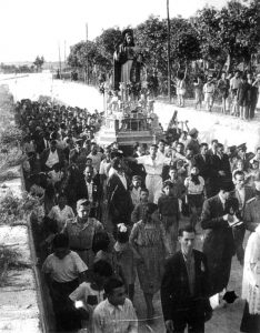 Il Sacro Cuore viene portato al centro storico, fine anni '40