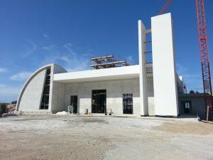 La nascente chiesa di San Giuseppe l'Innografo al Monte Tauro
