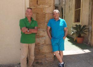 Romolo Maddaleni e Salvo Lentini, i due appassionati di storia locale autori della scoperta