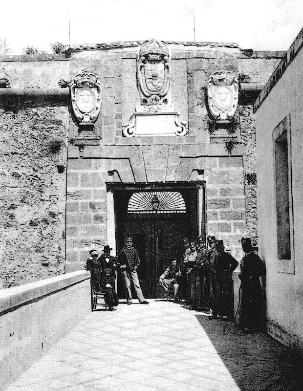 Ingresso del Castello-Penitenziario, inizio Novecento