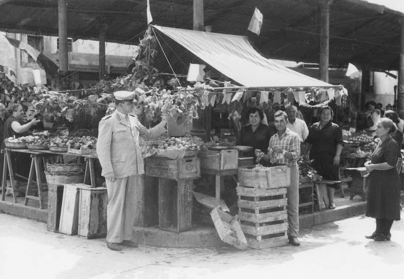 Mercato Comunale 'Festa dell'Uva', anni cinquanta.