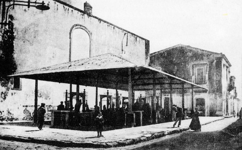 Mercato Comunale, inizio Novecento.