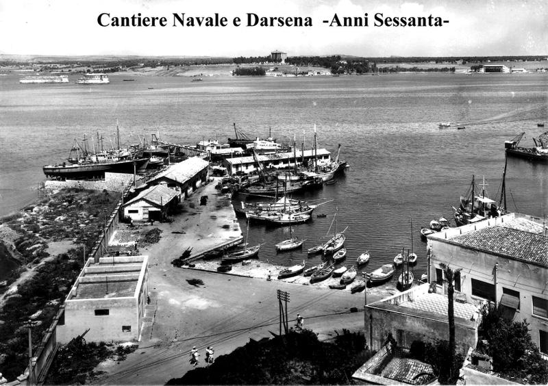 Molo della Vecchia Darsena, anni cinquanta.-breve-storia-di-augusta-di-salvo-lentini