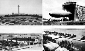 Breve storia di Augusta: Faro Santa Croce, Hangar, Diga foranea, Base navale