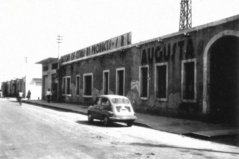 Augusta, Viale Italia anni '50, ex Fabbrica del Cytrus