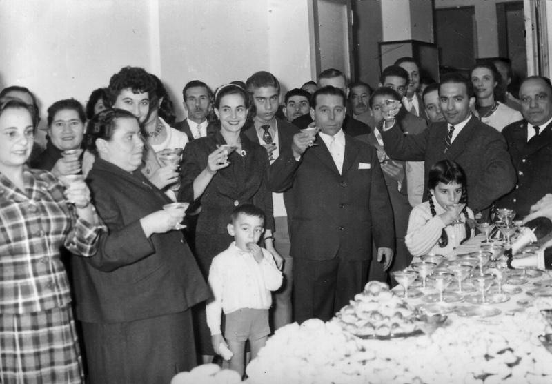 Inaugurazione del Caffè Greco, anni cinquanta.