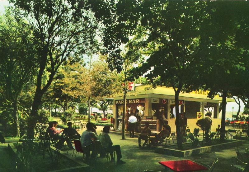 ParkBarUzzo, Augusta Villa Comunale, cartolina del 1968.
