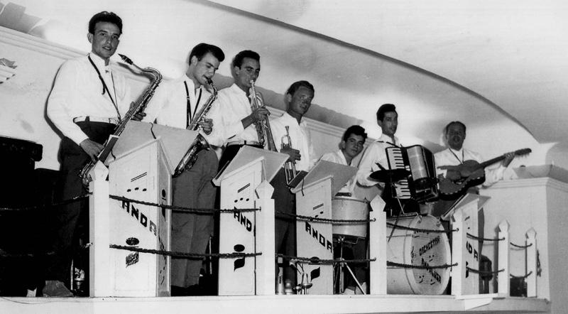 Augusta, Bar-Caffe Noe, 'Orch estra Andalusa', anni '60