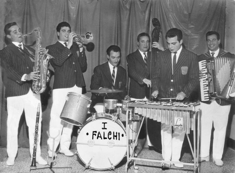 Il Gruppo Musicale 'I Falchi', anni '50.